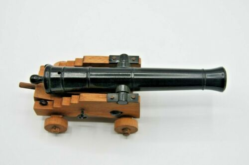 VINTAGE 7.5 INCH CANNON - MARKED SPAIN AND BLACK POWDER ONLY - VERY NICE +++
