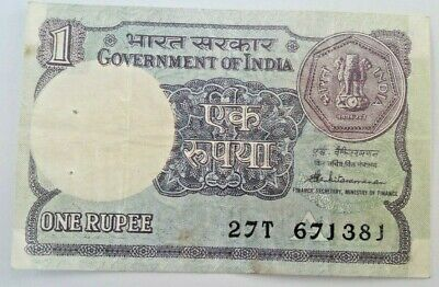 India 1 RUPEE 1988 Letter TJ Sign.44 P 78Ac Inde
