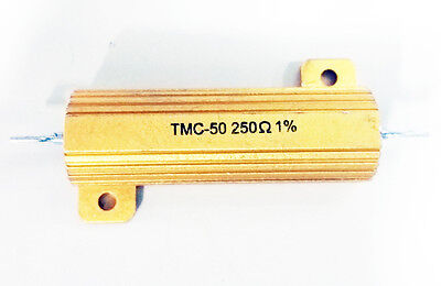 Gold Bar Power Resistor - 250 Ohm 1 50w - Lot Of 3 Tmc50
