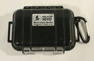 Pelican 1010 Micro Case Series Black W/ Carabiner Made in the USA Pelican Black Micro Case
