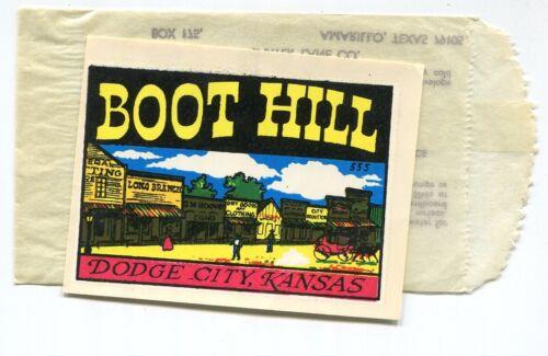 BOOT HILL  Dodge City, Kansas vintage unused travel decal #555 Baxter Lane f/sh