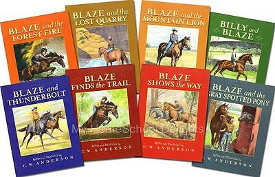 NEW SET 8 Billy and Blaze C.W. Anderson Classic Readers Homeschool Grades K-3