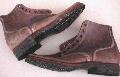 Original Ww2 Korean War Usmc Leather Marine Combat Field Boots   Size 5 E