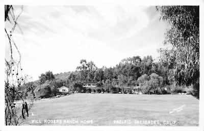 RPPC Will Rogers Ranch Home, Pacific Palisades, CA c1940s Vintage Postcard for sale  Shipping to Canada