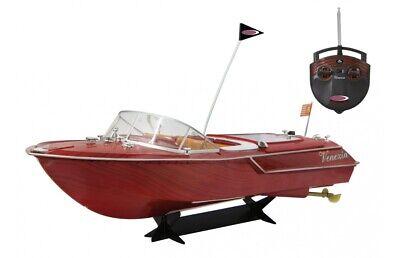 RC Venezia Boot Holzoptik 40Mhz Ferngesteuertes Boot Schiff Gratis Namensaufkl.