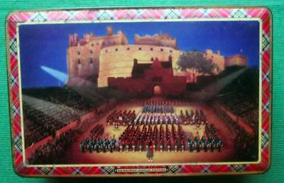 c1950 Edinburgh Tattoo McVittie Price Tartan Tartanware Lithographed Tin B