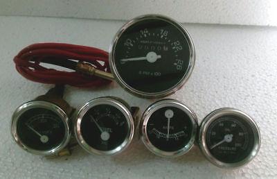 David Brown Tractor Tachometer Temp Oil Pressure Amp Fuel Gauge - Black