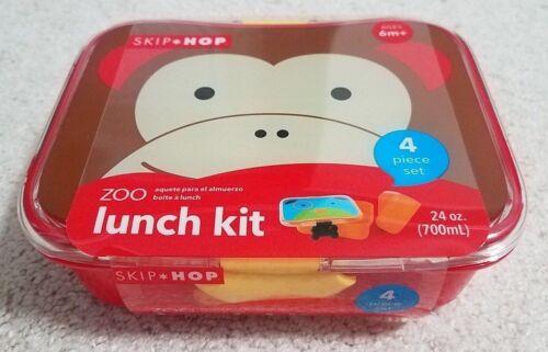 Skip Hop Zoo 4 Piece Lunch Kit - Monkey
