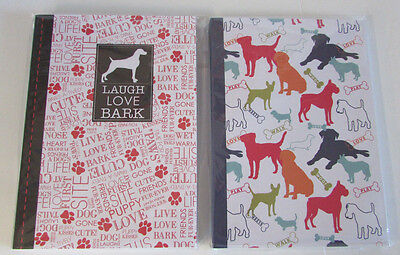 2 Dog Themed Blank Notebooks Journals- G For Gifts  -Laugh Love Bark -New Sealed