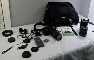 Canon Xti Rebel EOS Digital Camera DS126151 with Three Zoom Lens and Extras