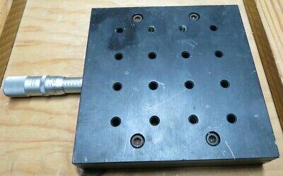 Scherr Tumico X Translation Stage Good Shape Machinist Micrometer Head