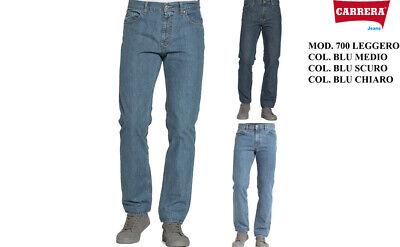 Jeans Uomo Carrera Art. 700 Estivo Leggero Regular Denim Tg. da 46 a 62 7001030A