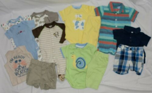 Lot Of 13 Boy Clothes All 0-3 Month Old Navy Gerber Childrens Place Garanimals +