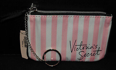 Victorias Secret Mini Keychain  Coin  Credit Card  Cosmetic Wristlet  Pink  New