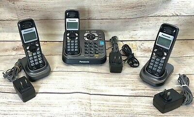 Panasonic DECT 6.0 KX-TG9341T Answering Machine and 3 Handsets - Tested