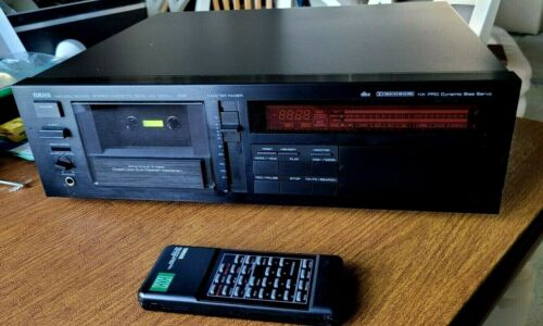 GUARANTEED Yamaha KX-1200 Audiophile 3-Head Stereo 3 Motor Cassette Deck Remote