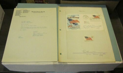 1959 Massachusetts Senator Leverett Saltonstall Autograph Signed Letter + FDC