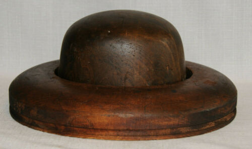 ANTIQUE HATTERS SUPPLY HOUSE CHICAGO WOOD HAT MOLD WOODEN