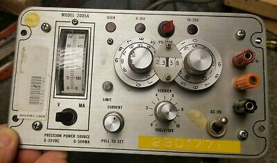 Power Designs Model 2005a Precision Power Source 0-20 Vdc 0-500 Ma Works Perfect