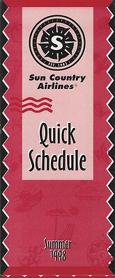 Sun Country Airlines System Timetable 6 7 98  5112   Buy 4  Save 50