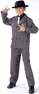 Child 20s Pinstripe Gangster Zoot Suit Costume - Gangster Costume Child