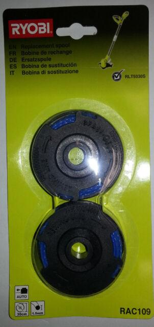 Place the spool to Electro trimmer RLT5030S Ryobi RAC109 Homelite