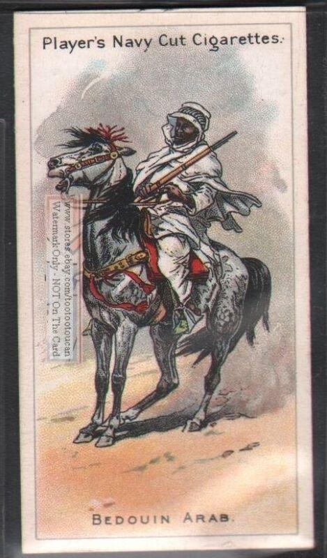 Bedouin Arab Horseback Rider Islam Moslem Cavalry 100+ Y/O Trade Ad Card