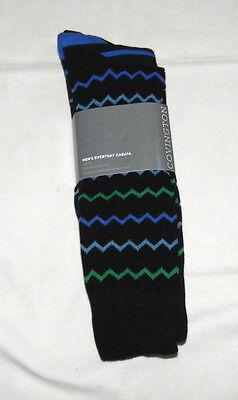 NEW COVINGTON MENS EVERYDAY CASUAL SOCKS 3 PAIR PKG BLACK+ASST SHOE SIZE (Covington Mens Socks)