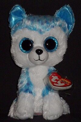 "TY BEANIE BOOS - SKYLAR the 6"" HUSKY DOG - MINT with MINT TAG -JUSTICE EXCLUSIVE"