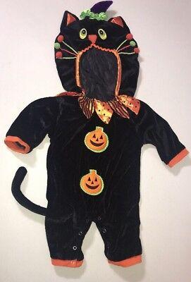 Kids Klassics HALLOWEEN CAT COSTUME Infant Toddler Size 9 Months Kitty](Toddler Halloween Cat Costume)