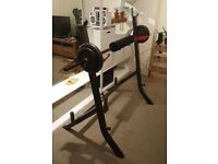Squat Rack and Bench Press with Weight Bench, Dumbells and Barbell