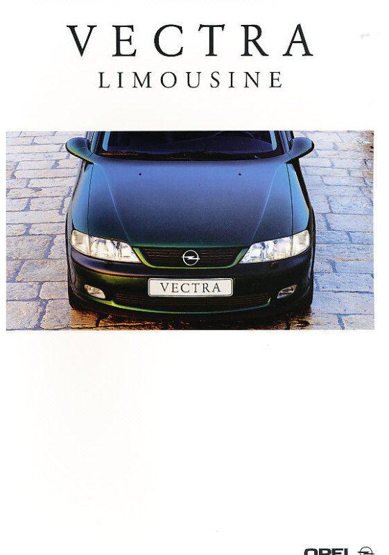1999 Opel Vectra Deluxe German Prospekt Sales Brochure