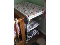 Baby Changing Unit with changing table and bath