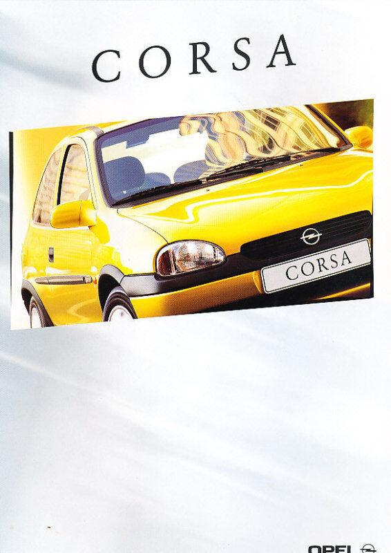 2000 Opel Corsa Original Dutch Sales Brochure