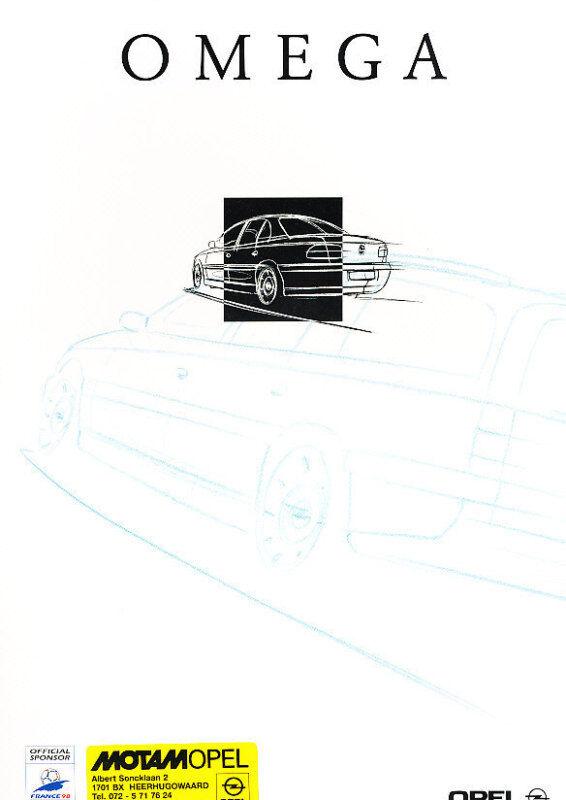 1998 Opel Omega Dutch Sales Brochure Prospekt