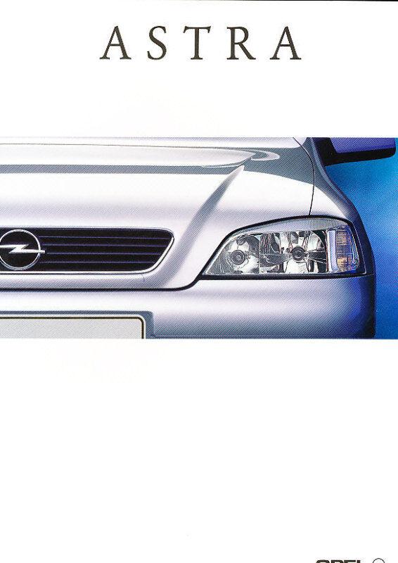 1998 Opel Astra Deluxe Dutch Sales Brochure Prospekt