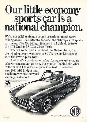 1973 MG Midget - Champion - Classic Vintage Advertisement Ad D73