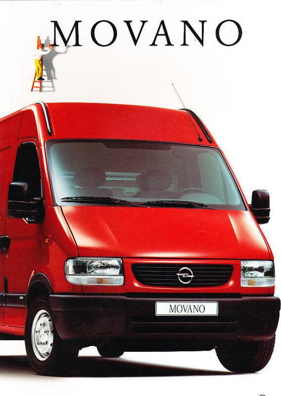 2000 Opel Movano Van Dutch Sales Brochure Prospekt