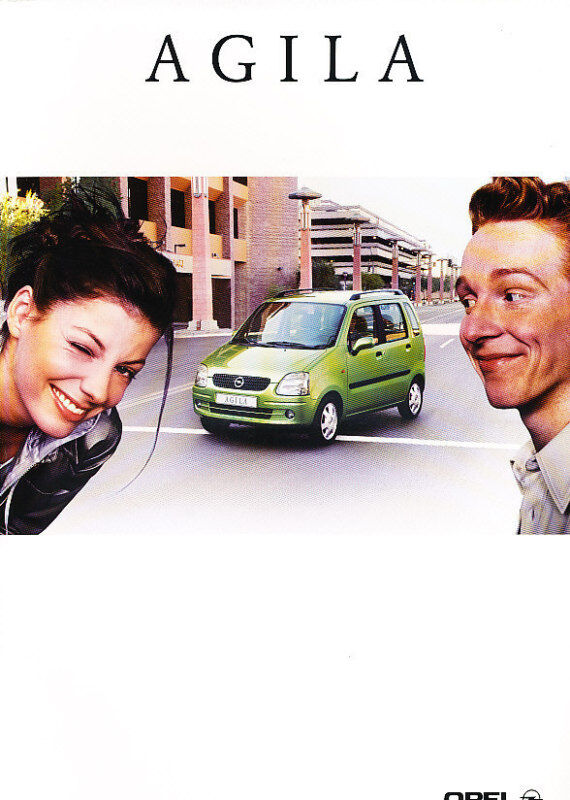 2000 Opel Agila Original Dutch Sales Brochure 5/00