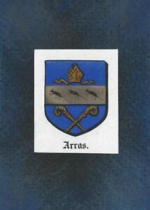 ANTIQUE-ARRAS-FRANCE-HERALDRY-CREST-PRINT-ON-ACEO-NEW-BLACK-PAPER-COAT-OF-ARMS