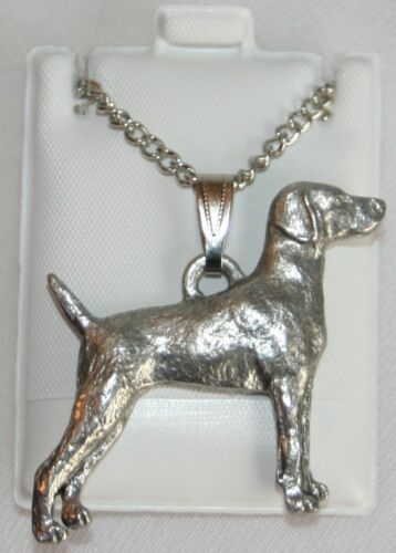 Weimaraner Dog Harris Fine Pewter Pendant w Chain Necklace USA Made