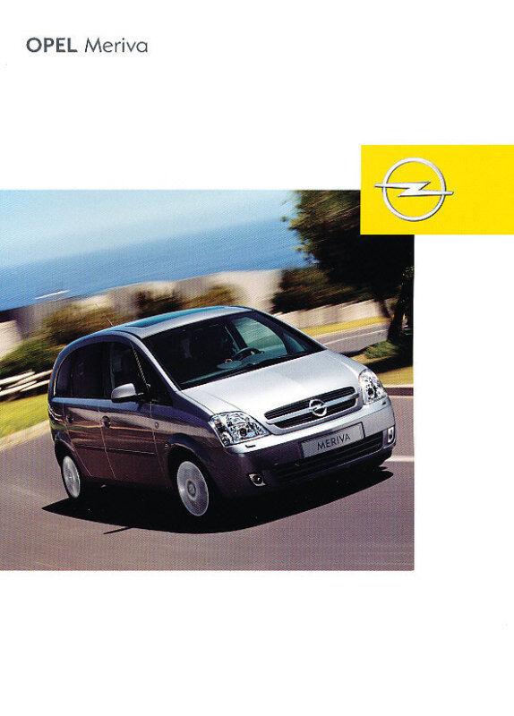 2003 Opel Meriva Deluxe German Sales Brochure Prospekt