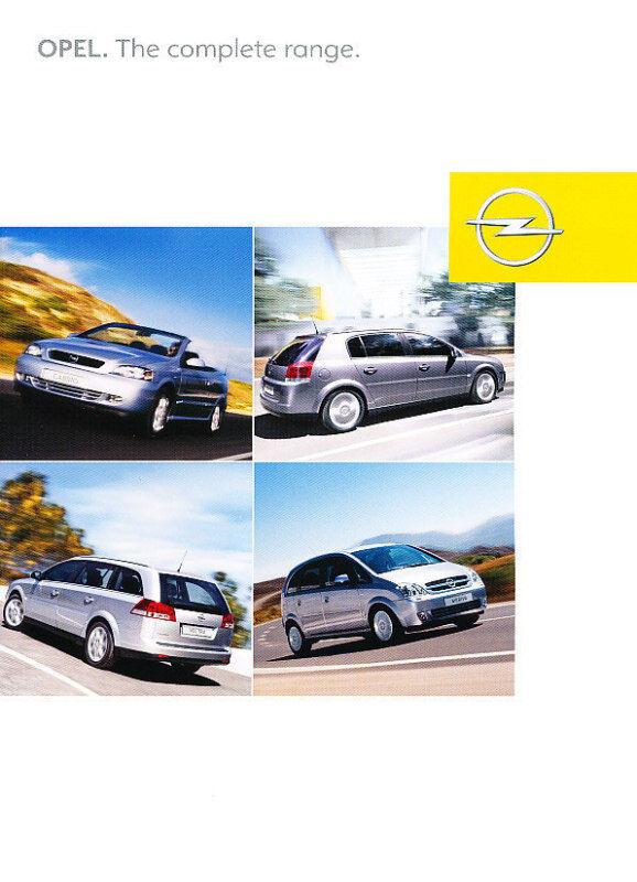 2004 Opel Sales Brochure Speedster Frontera Vectra GTS