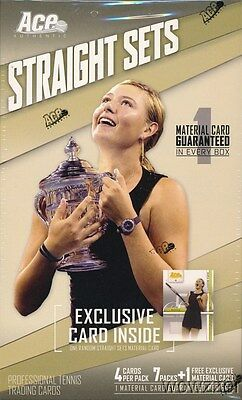 2007 Ace Authentic Straight Sets Tennis Sealed Retail Box-WORN MATERIAL Card!