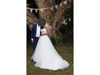 Stunning Ivory Eddy K Wedding Dress with beaded corset bodice and full tulle skirt (size 12 - 18)
