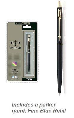 Gold Trim Matt (Parker Classic Matte Black GT Gold Trim Ball Pen New in gift Box Free shipping )