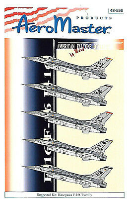AeroMaster F-16 American Falcons Overseas for Hasegawa 1/48 Scale Kits AN48556