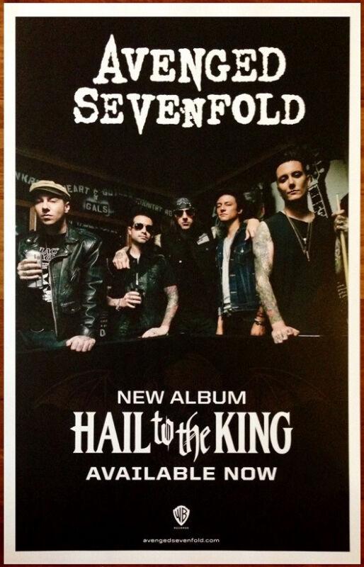 AVENGED SEVENFOLD Hail To King Ltd Ed RARE Tour Poster +FREE Metal Poster! Stage