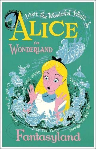 Disneyland Alice In Wonderland Poster 11X17 - Fantasyland