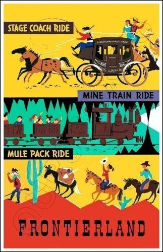 Disneyland Stage Coach Ride Poster 11X17 - Frontierland